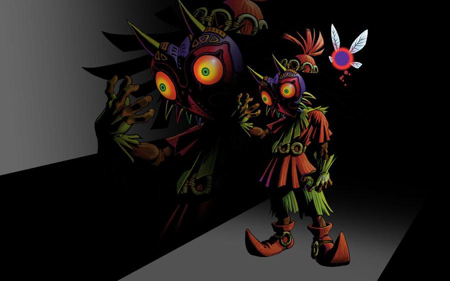 Skull Kid and Tael by corduroyCHUCK 900x563