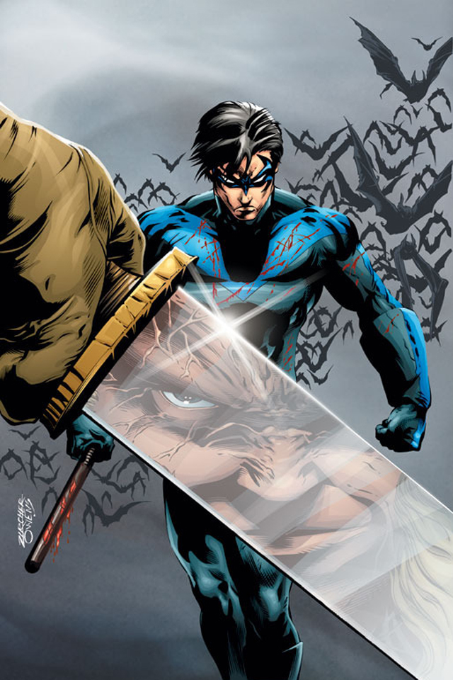 Nightwing I4 drawns cartoons wallpaper for iPhone download 640x960