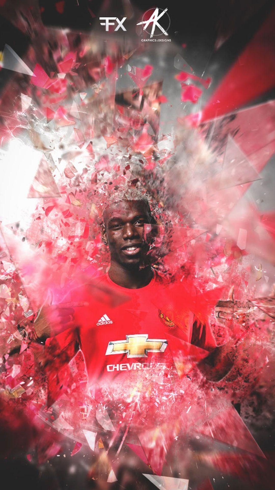 Paul Pogba Manchester United iPhone Wallpaper   Wallpapers iPhone 1080x1920