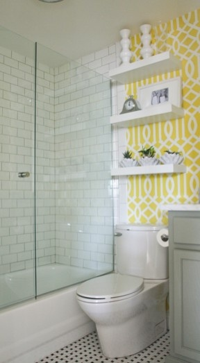 Love the fun wallpaper for bathrooms For the Home Pinterest 288x523