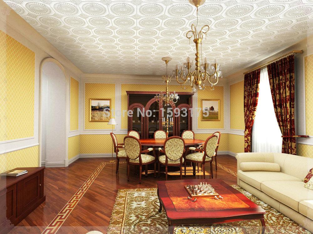 elegant cheap PVC ceiling wallpapers white color ceiling wallpaper 1000x749