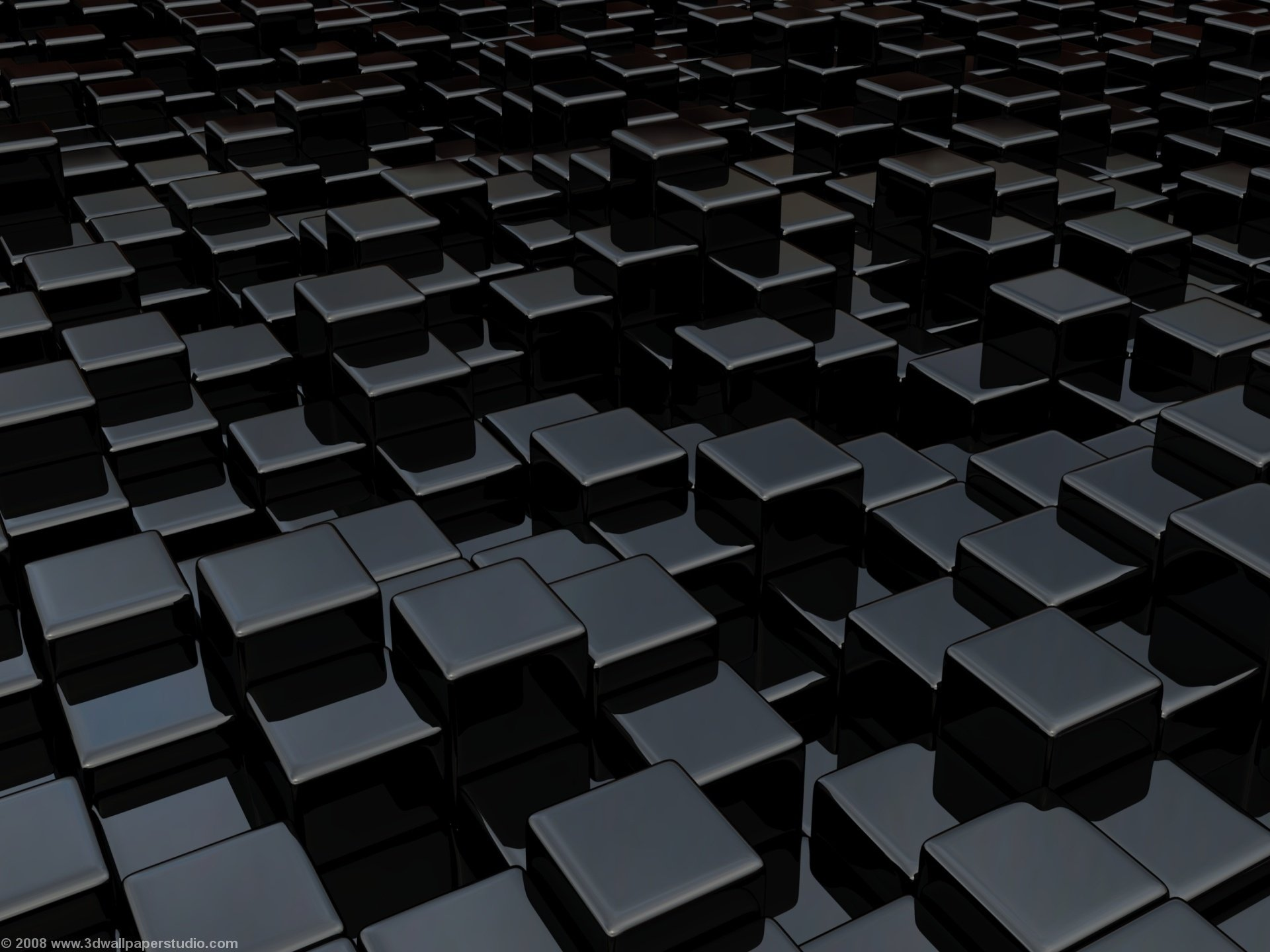 Black cube world wallpaper in 1920x1440 screen resolution 1920x1440