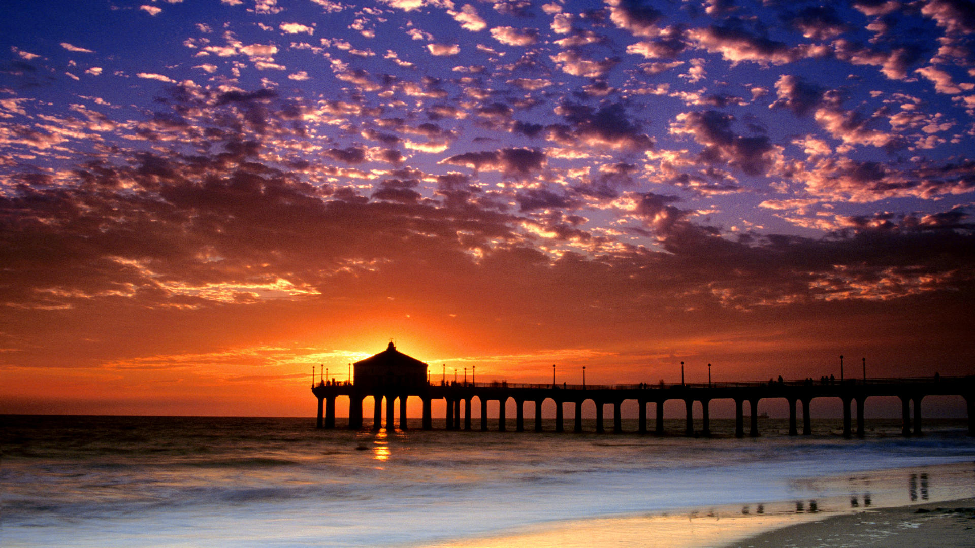 Cool Background Wallpapers California Beach Colorful Sky 1920x1080