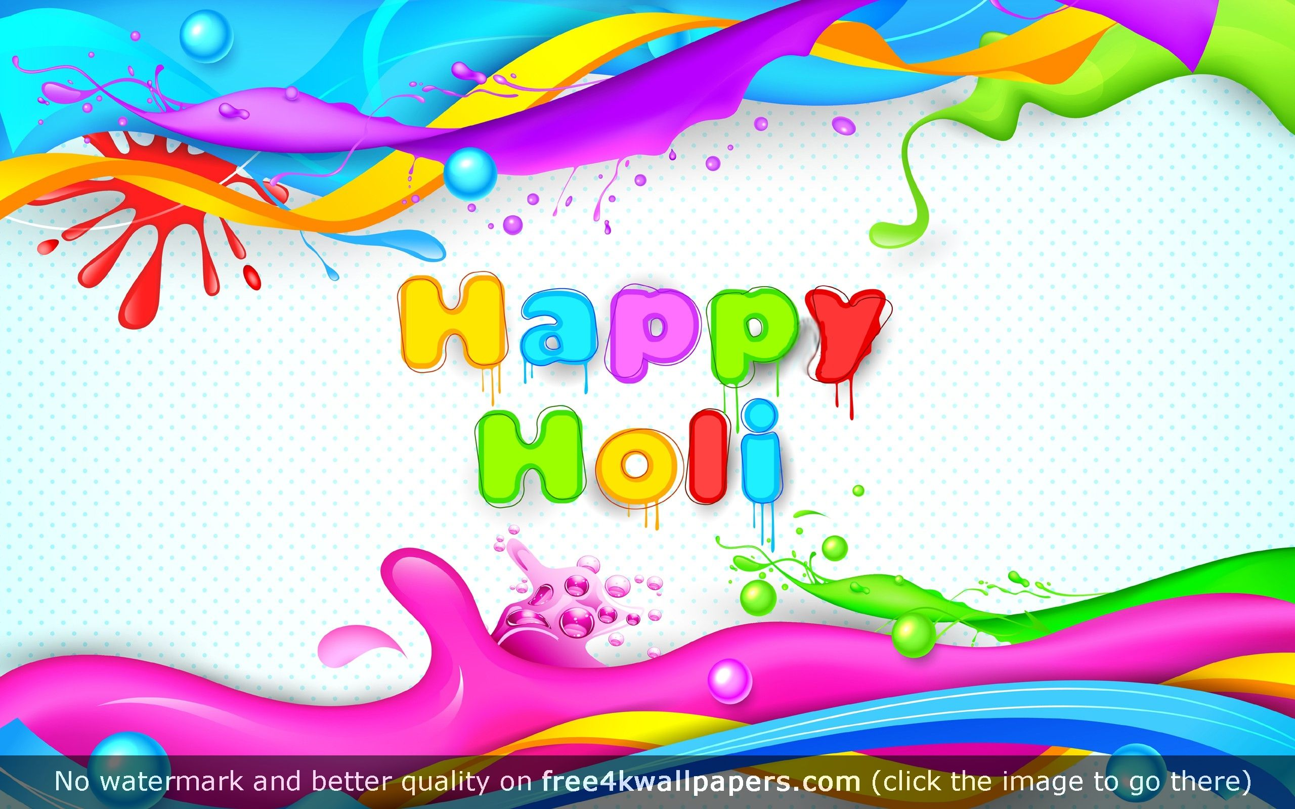Happy Holi 4K or HD wallpaper for your PC Mac or Mobile device 2560x1600