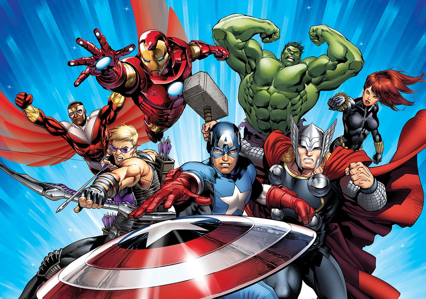 Marvel Wall Mural Avengers Comic Wallpaper Wallpapersafari