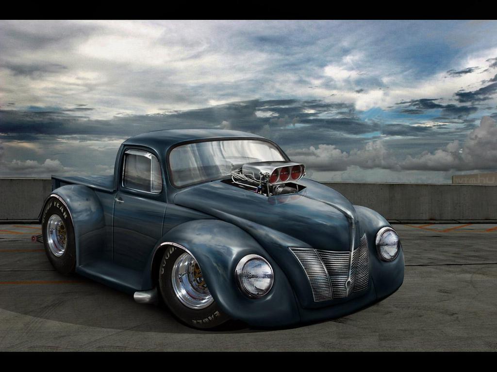 Volkswagen Bug Truck Wallpaper 1024x768