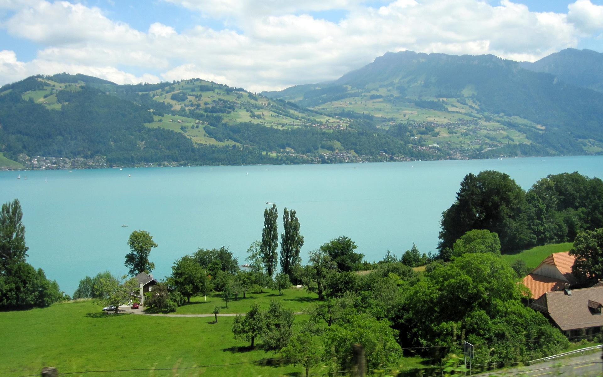 Images Switzerland Interlaken Nature Lake 1920x1200 1920x1200