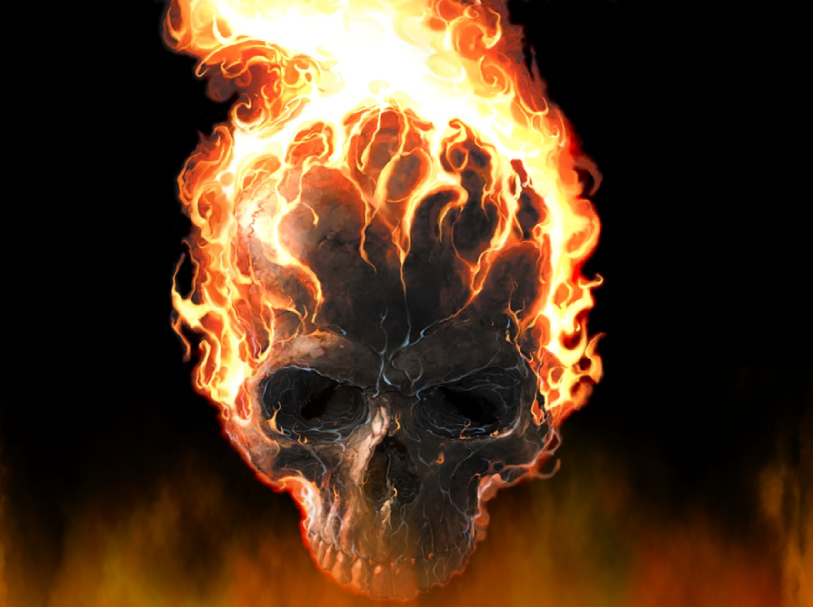 Download and Enjoy this FREE Fire Skull Screensaver   Animated 1149x859