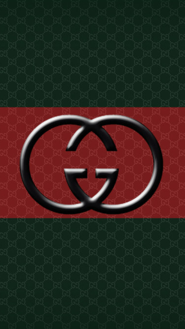 Gucci Red Stripe Logo Wallpaper for iPhone 5 640x1136