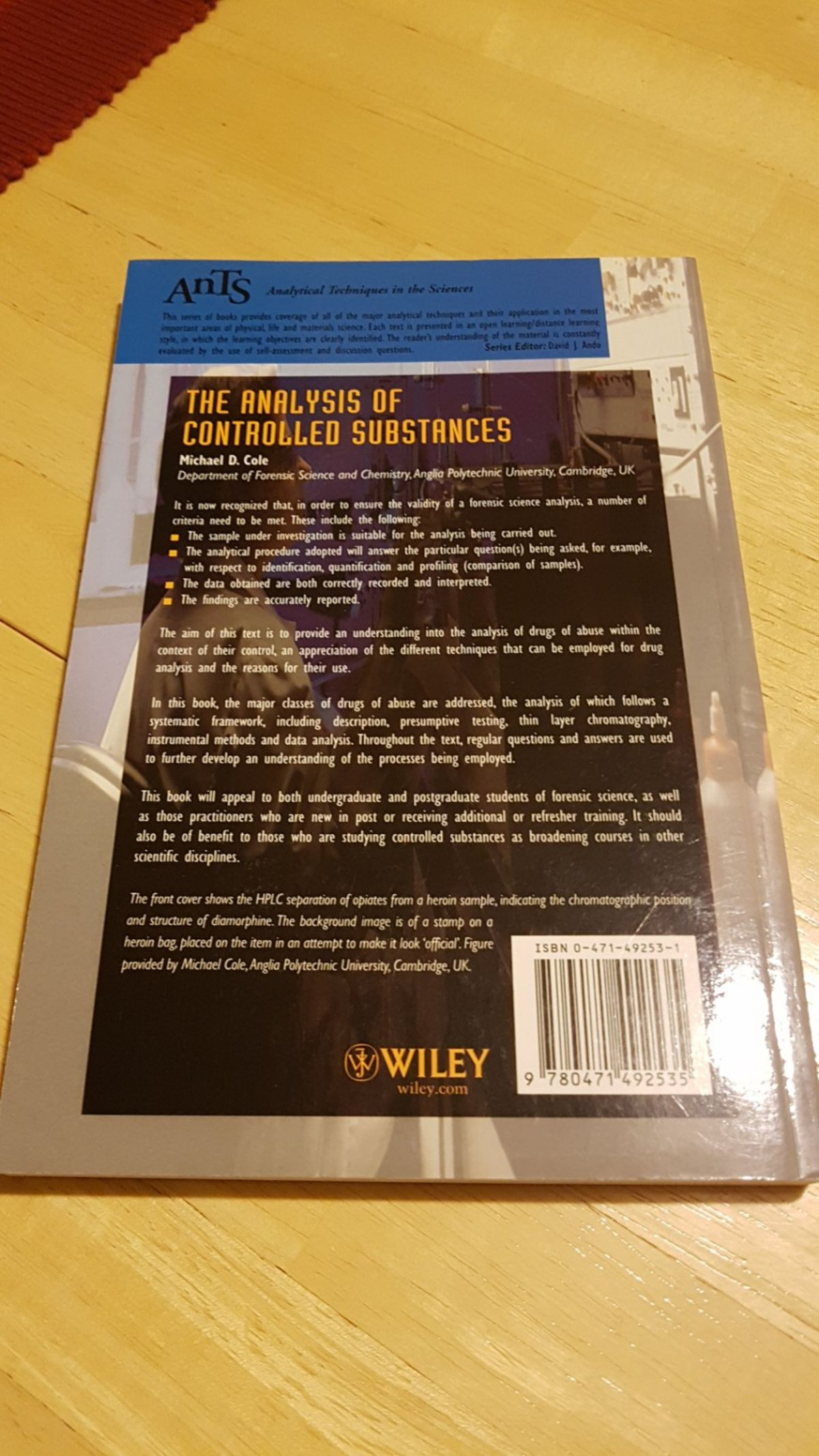 The Analysis of Controlled Substances book in B43 Sandwell for 1200x2133