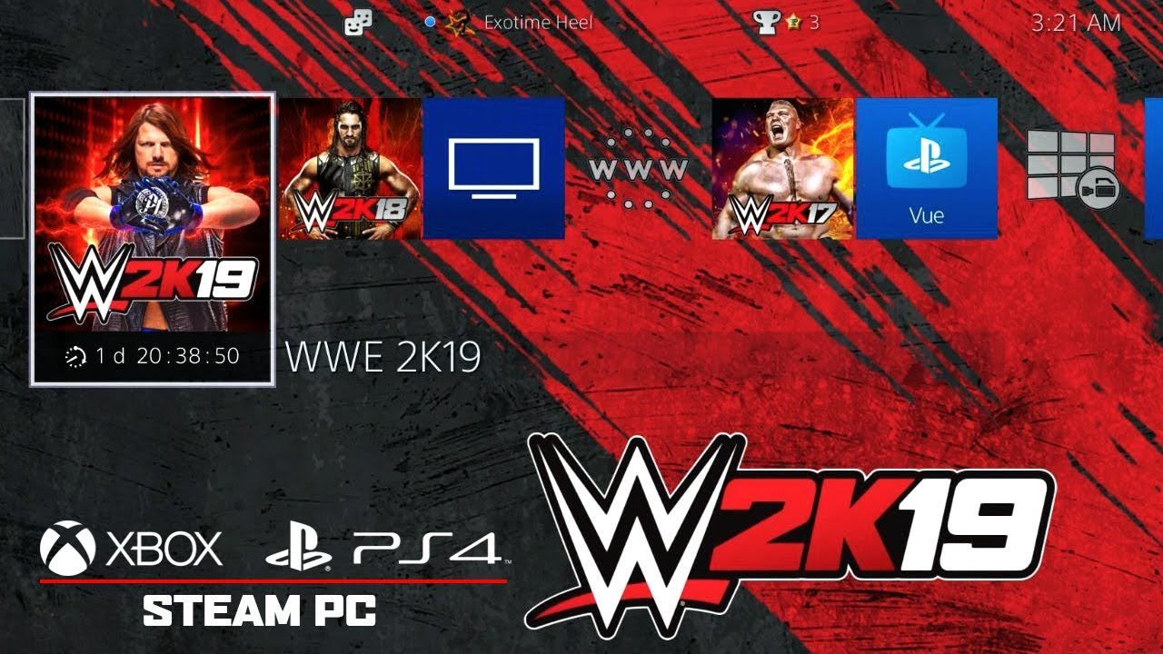 WWE 2K19   Countdown to Early Release Special WWE 2K19 Background 1280x720
