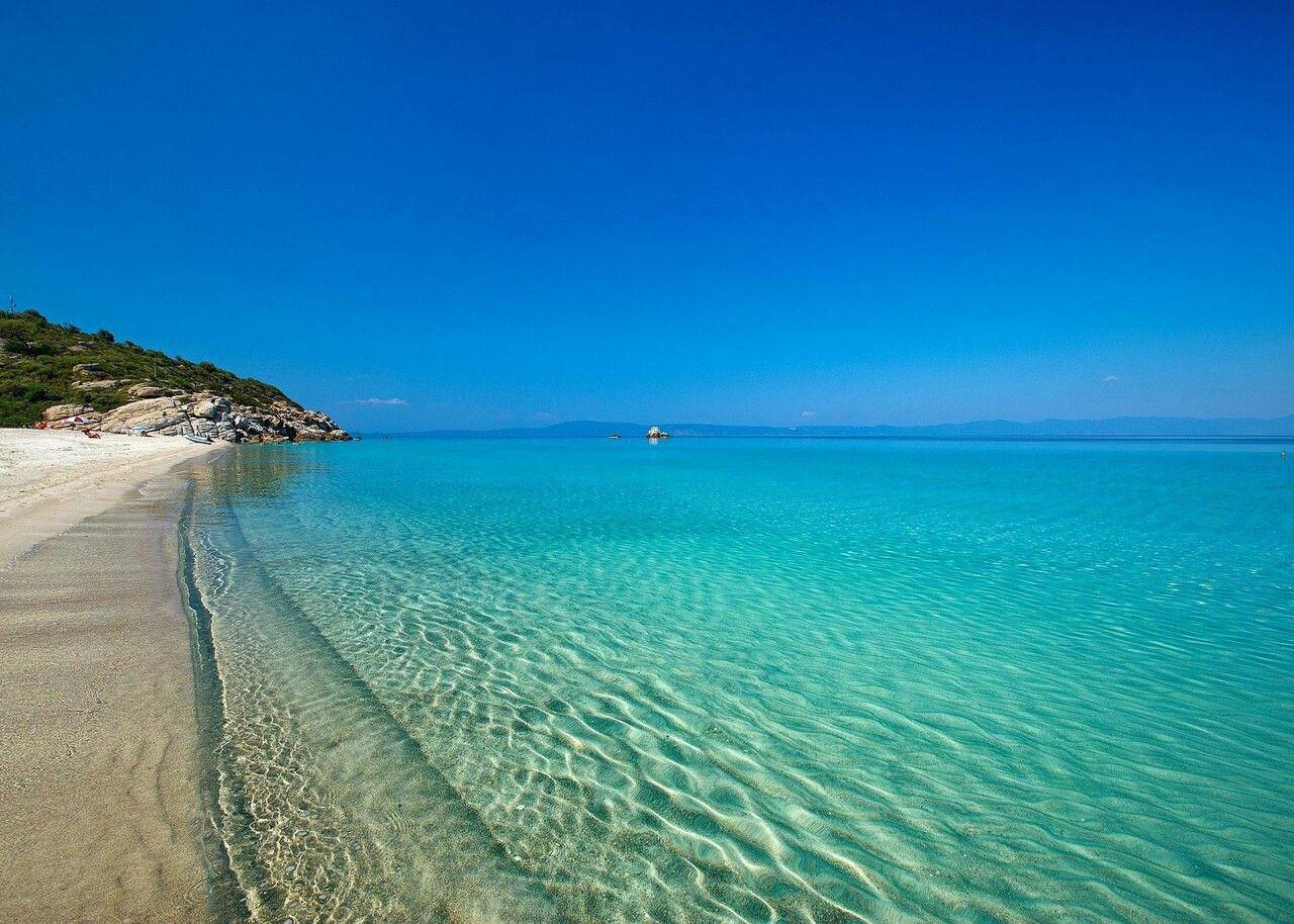 Grka Halkidiki Travel Beach wallpaper Greece holiday 1280x914