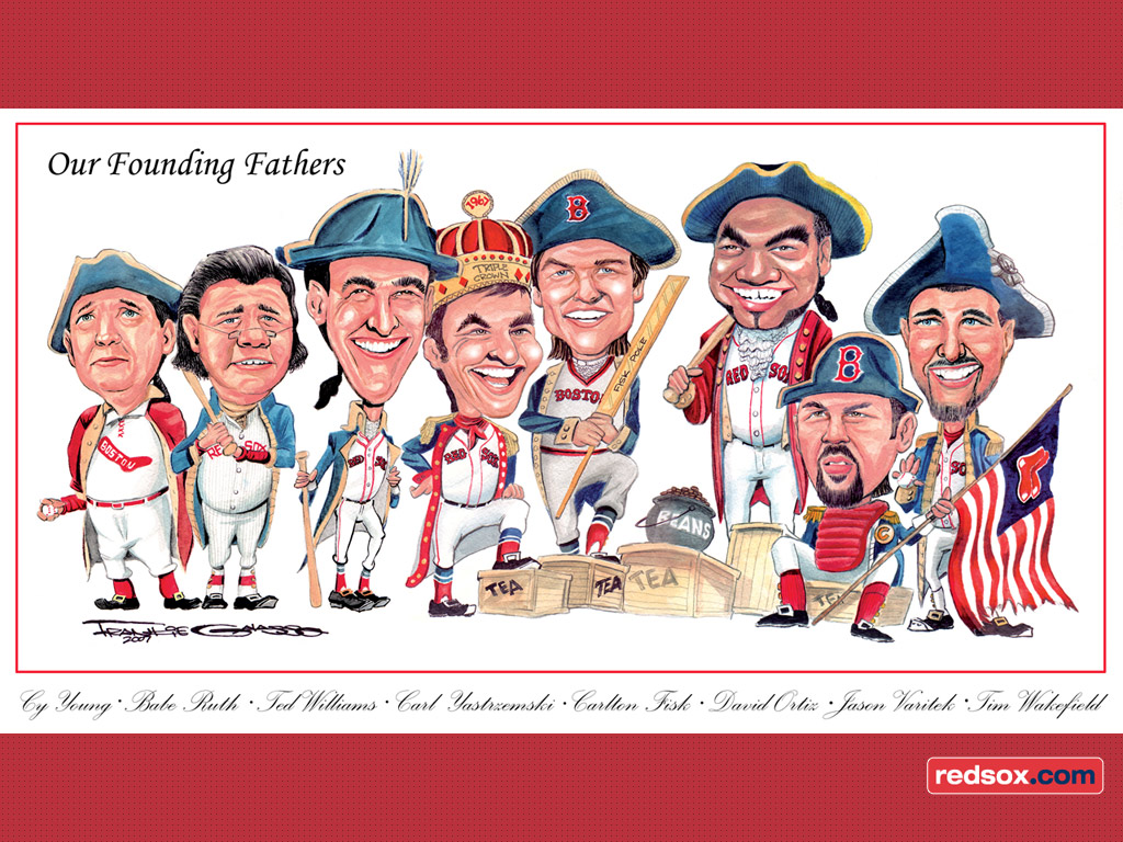 MLB Wallpapers Boston Red Sox   Cartoon 1024x768