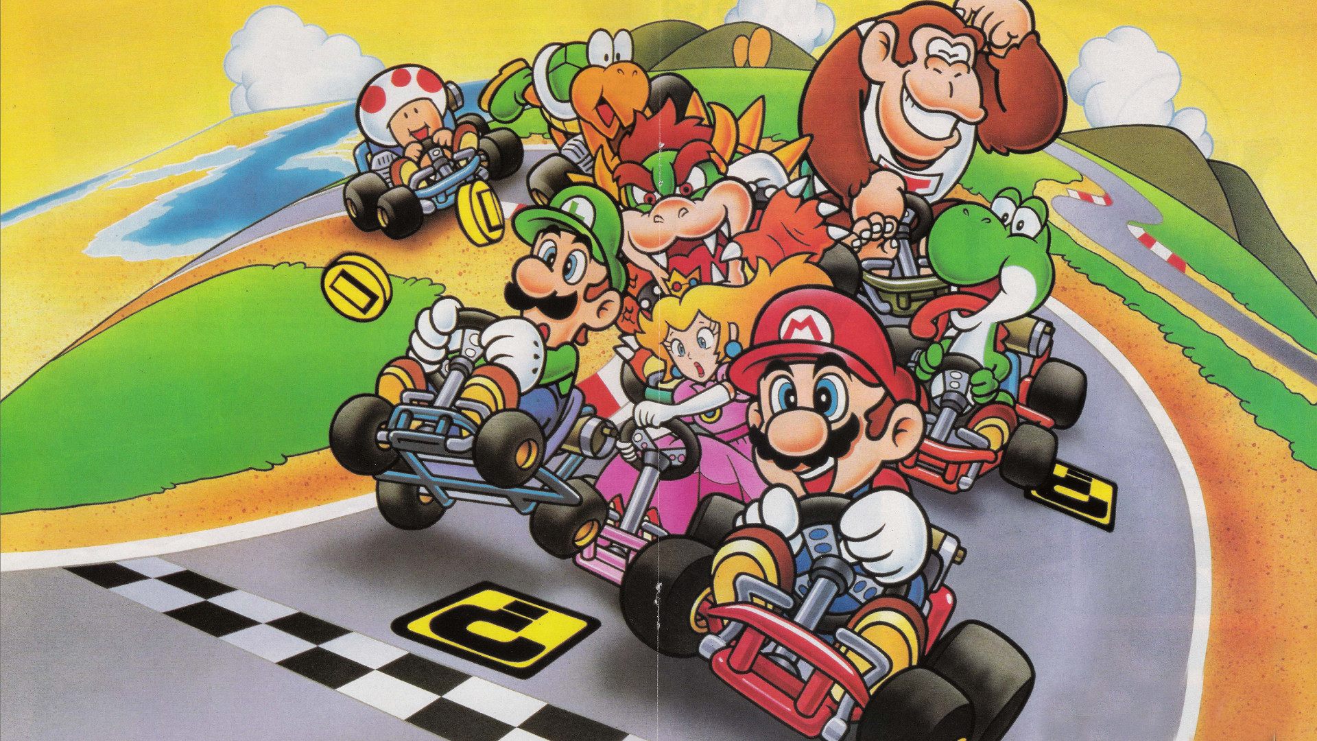 super mario kart wallpaper wallpapersafari