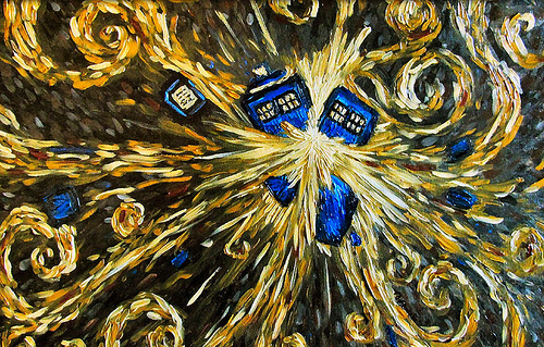 Van Goghs TARDIS exploding Flickr   Photo Sharing 500x319