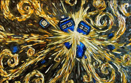 Van Gogh's TARDIS exploding | Flickr - Photo Sharing!