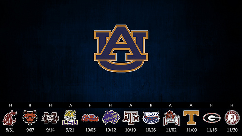 Auburn Tigers 2013 Schedule Posters College Spun Social Local 500x281