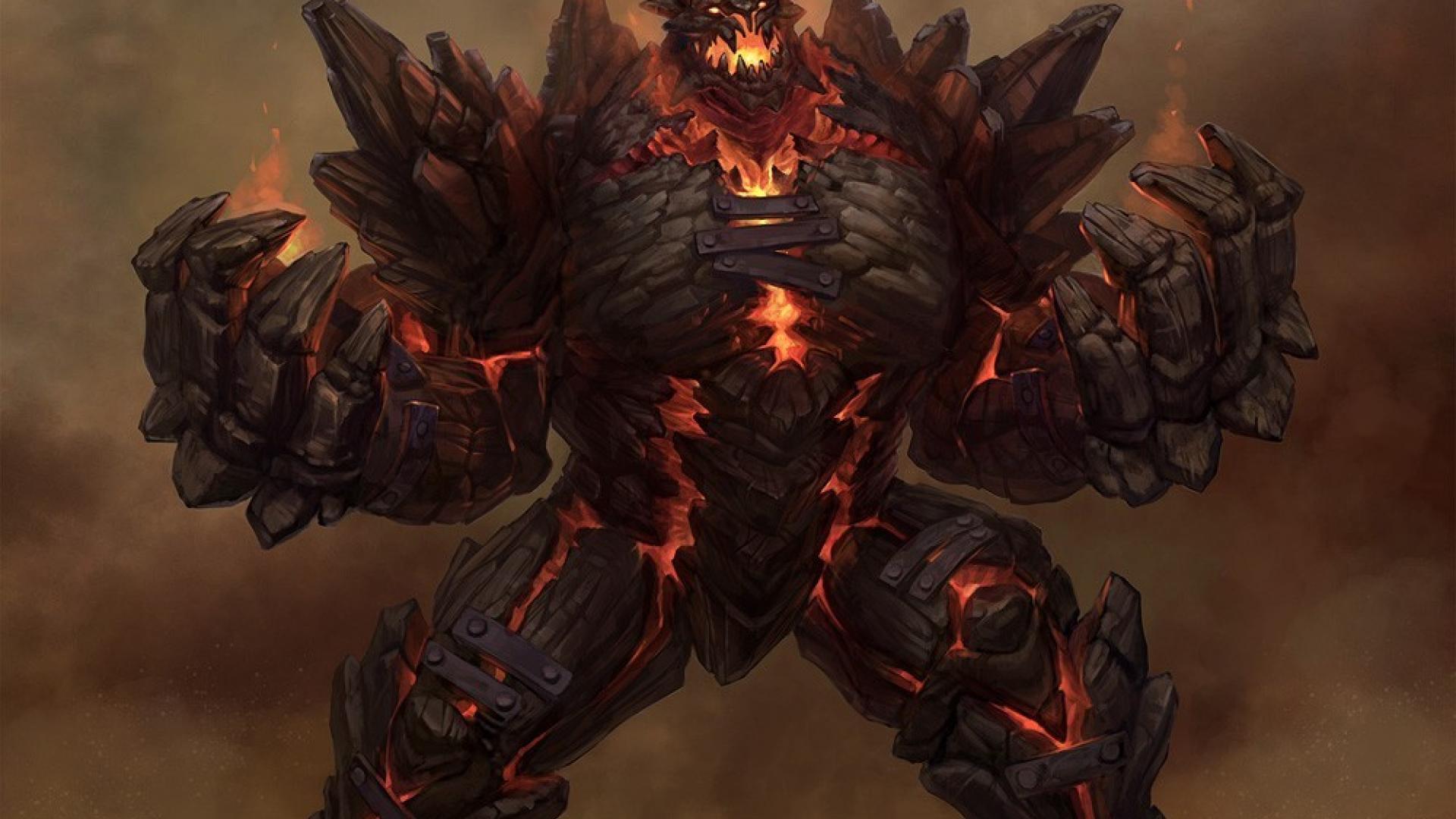 Monsters fire fantasy art golem wallpaper 125864 1920x1080