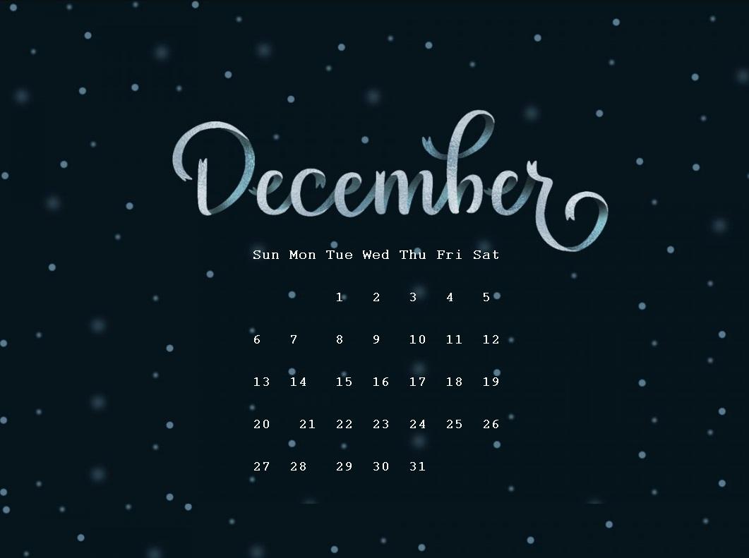 December 2020 Desktop Wallpaper Latest Calendar 1061x791