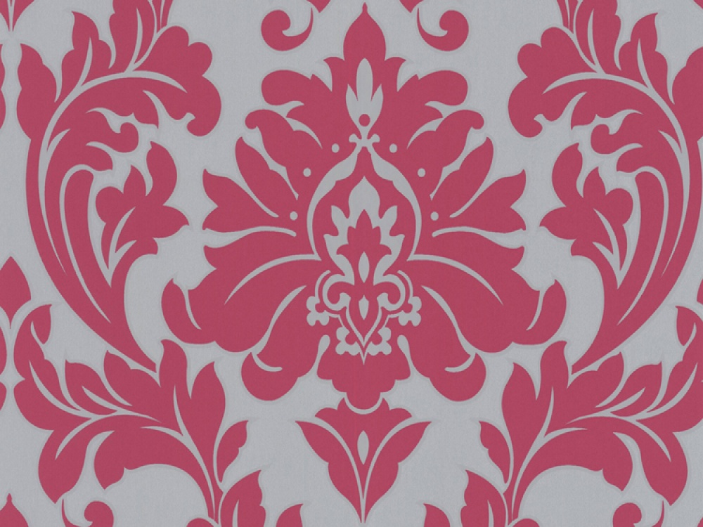Delivery On Majestic Hot Pink Damask Wallpaper 1000x750