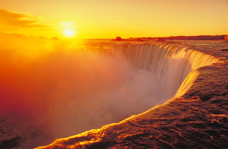 Sunset Niagara Falls Beautiful Wallpaper 1500x982