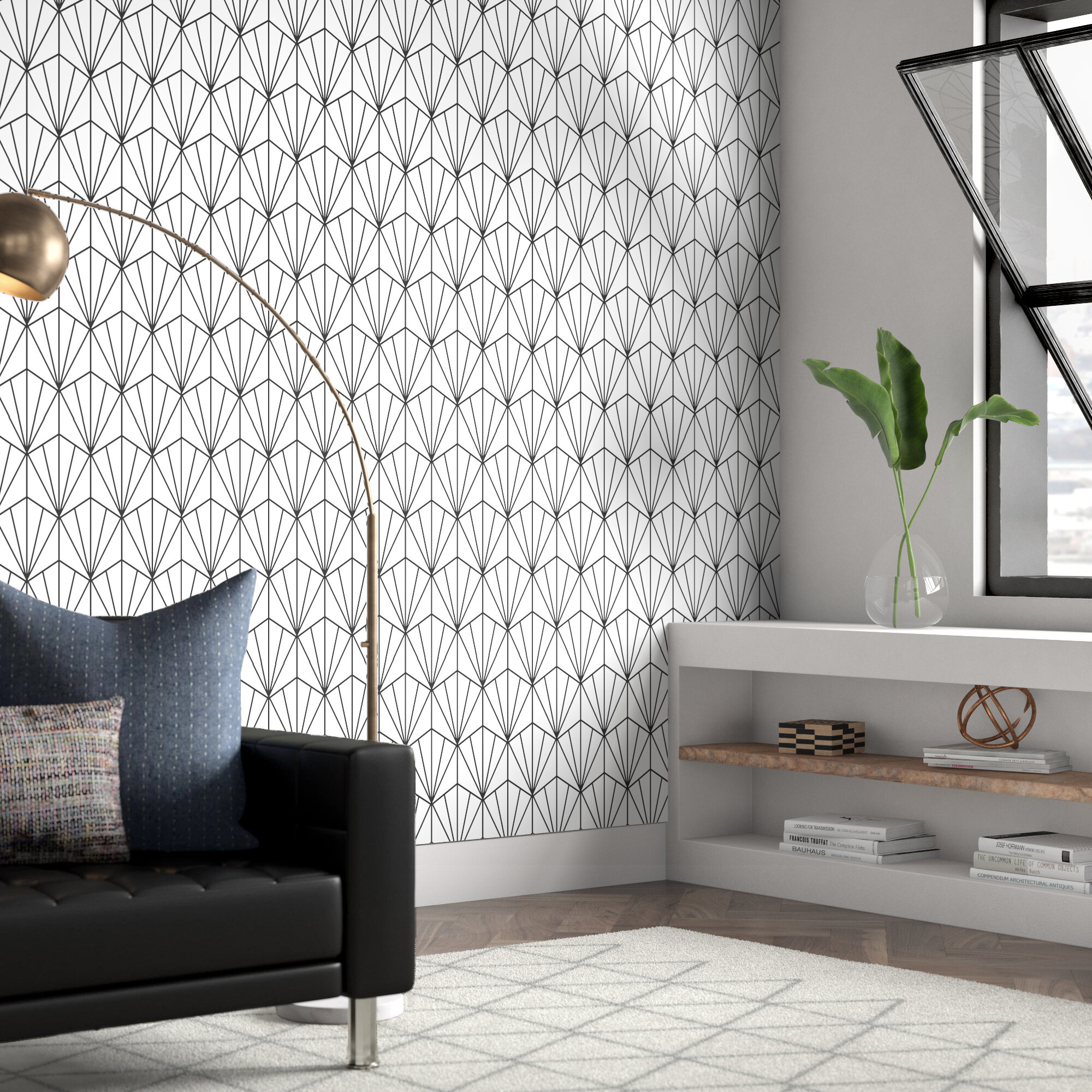 Wrought Studio Hartle 48 L x 24 W Peel and Stick Wallpaper Panel 2000x2000