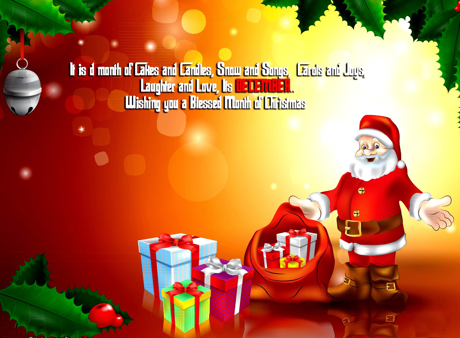 Merry Christmas holiday vacation gifts tree happy ...