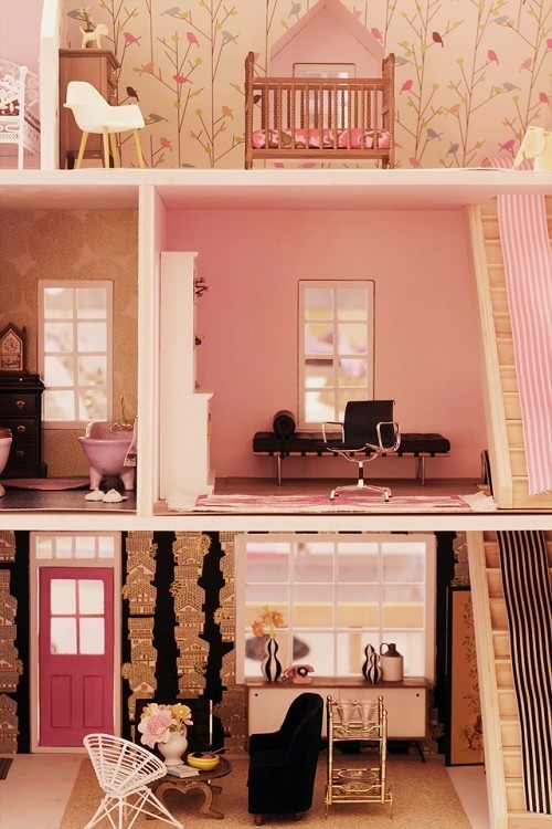 Diy Dollhouse Wallpaper Wallpapersafari