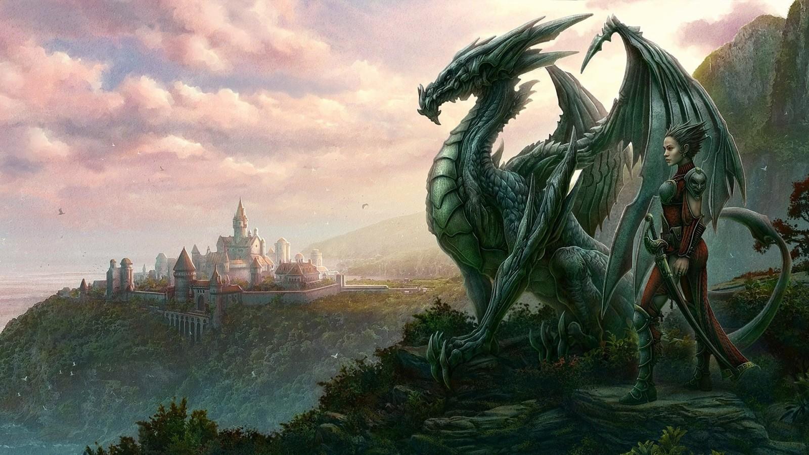 Dragon City Pictures HD Wallpaper of Cartoon   hdwallpaper2013com 1600x900
