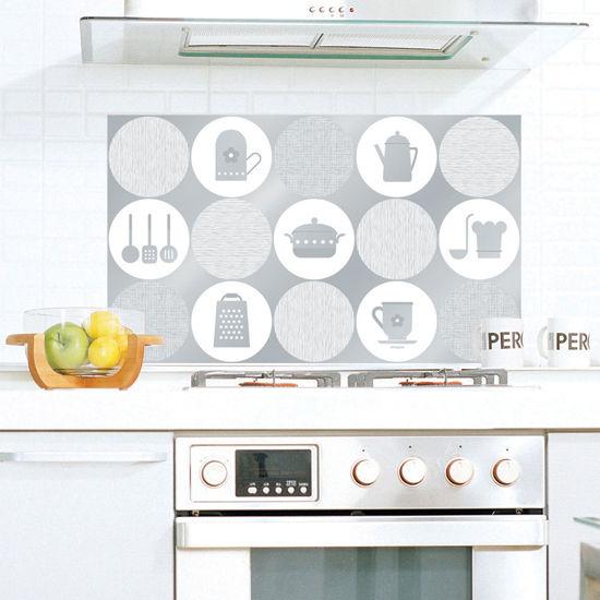 Aluminum Foil Self Adhesive Washable Wallpaper for Kitchen Backsplash 550x550