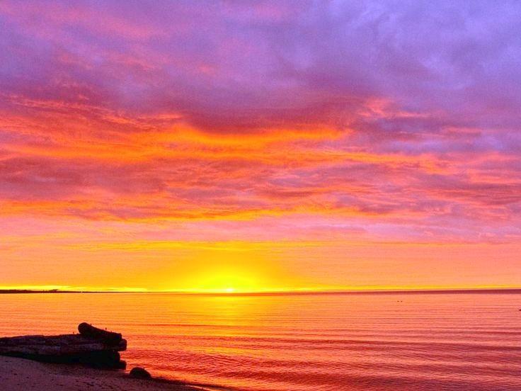 Beach Sunset Wallpaper HD 736x552