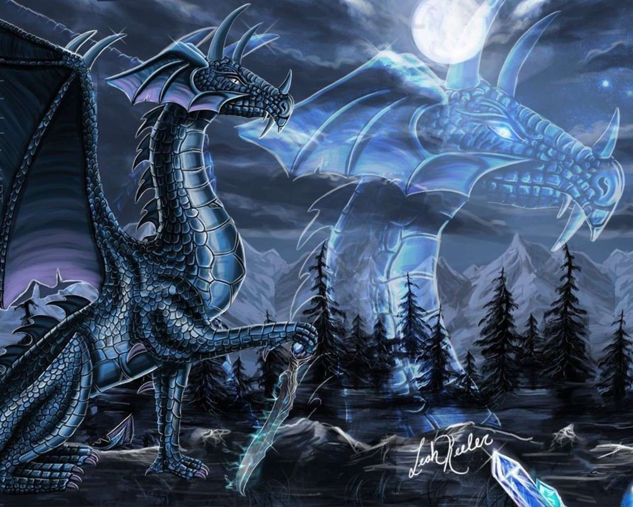 anime blue dragon the blue dragon the blue dragon wallpapers 1280x1024
