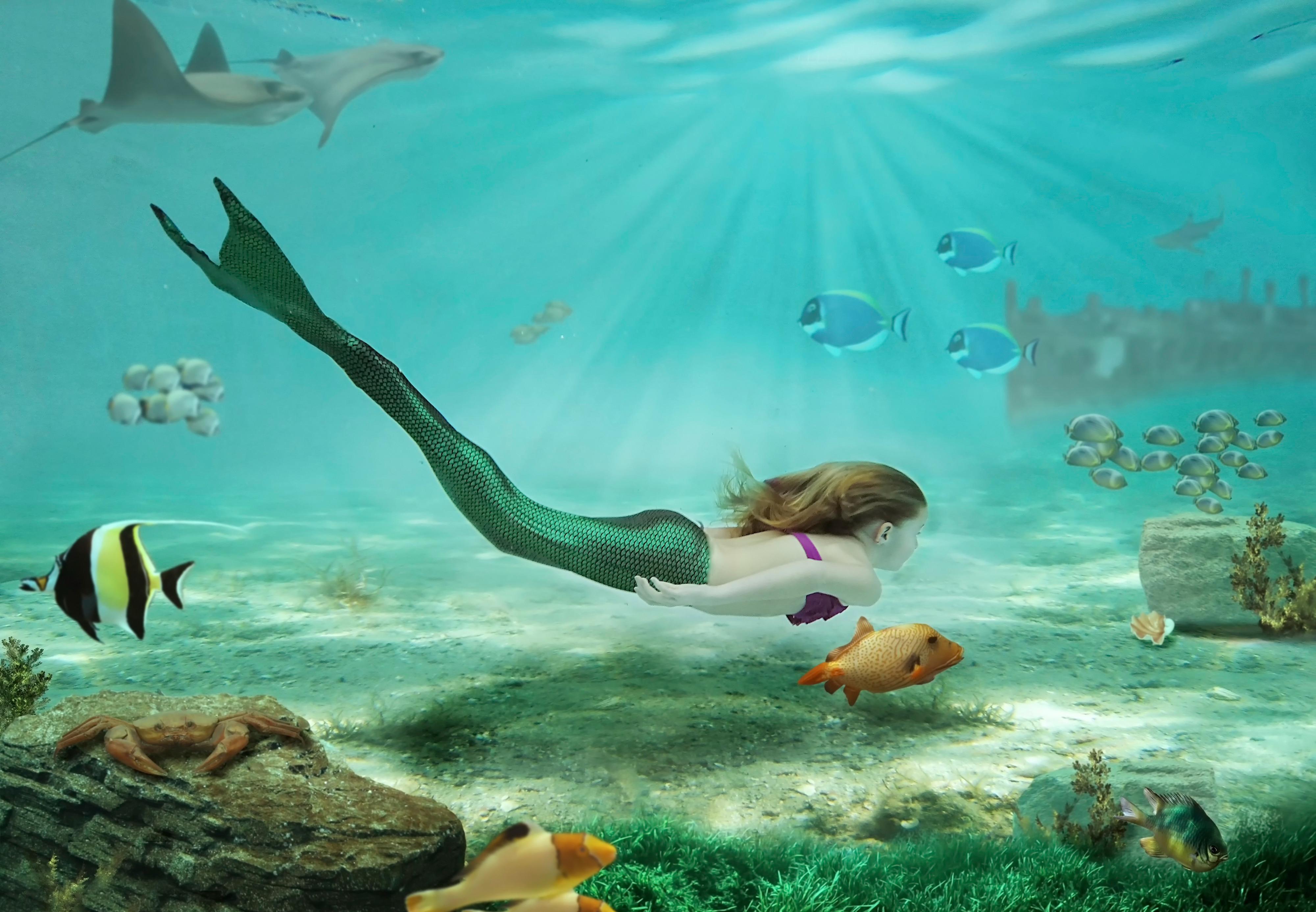 Underwater Mermaid Wallpaper