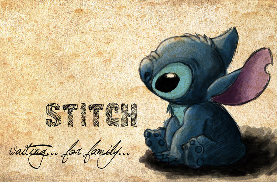 Stitch   waiting for family by vivsters 900x591