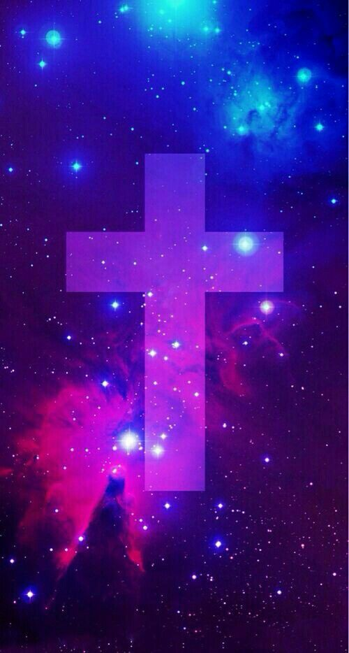 Galaxy cross wallpaper Wallpapers Pinterest 500x934