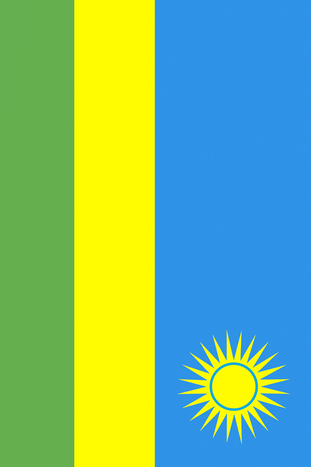 Rwanda Flag iPhone Wallpaper HD 640x960
