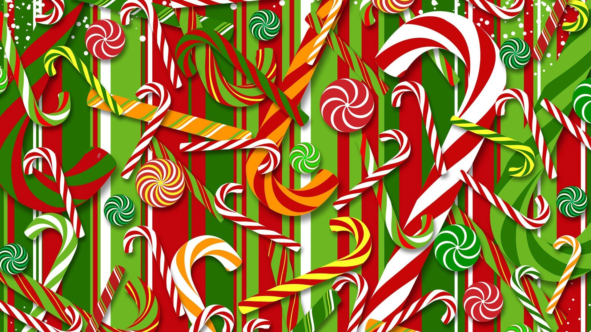 Christmas Candy Cane Wallpaper 1920x1080