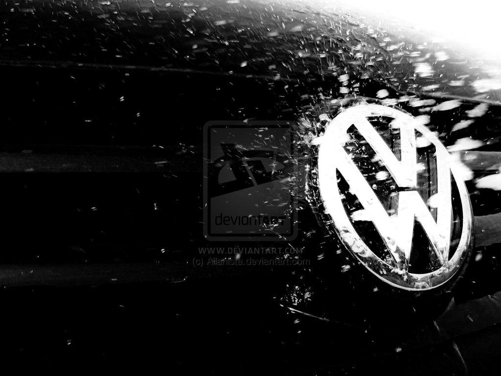 Volkswagen Logo Wallpaper Black 1024x768