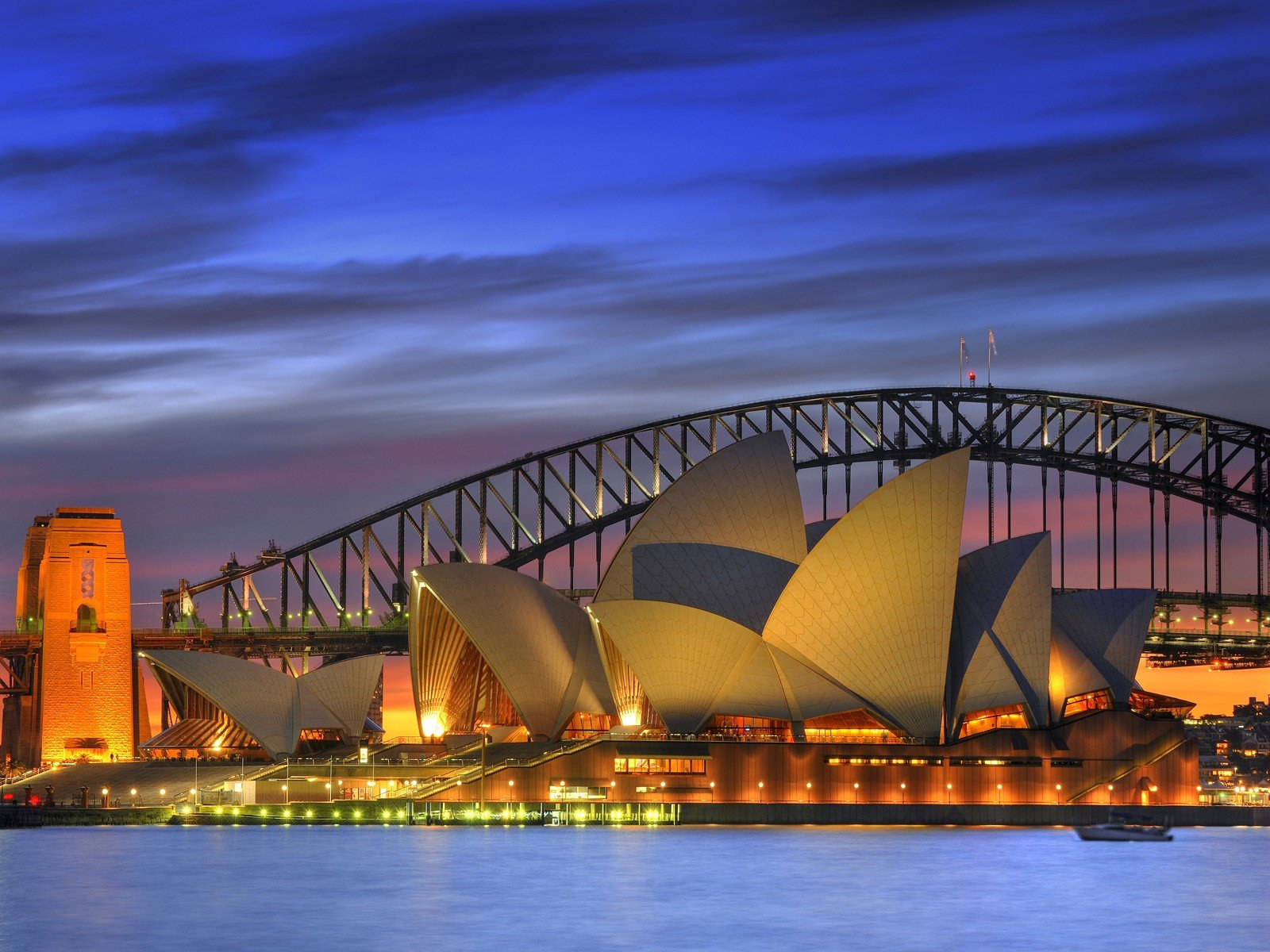 Harbor Sydney Opera House Sydney Harbour Bridge wallpaper background 1600x1200