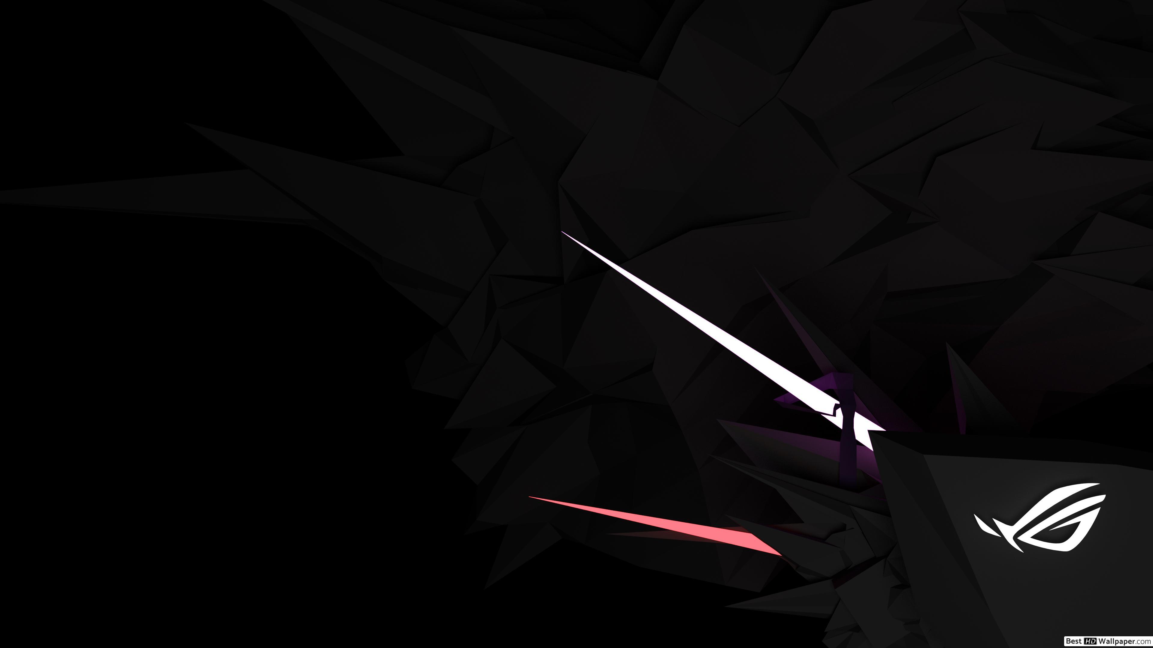 Asus ROG Republic of Gamers   Asus Dark Minimal White LOGO HD 3840x2160