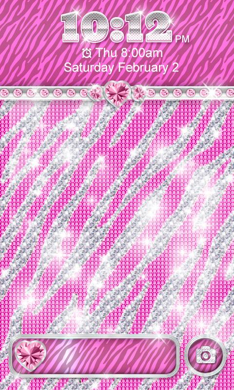 BlingTheme Pink Zebra Locker   Android Apps on Google Play 480x800