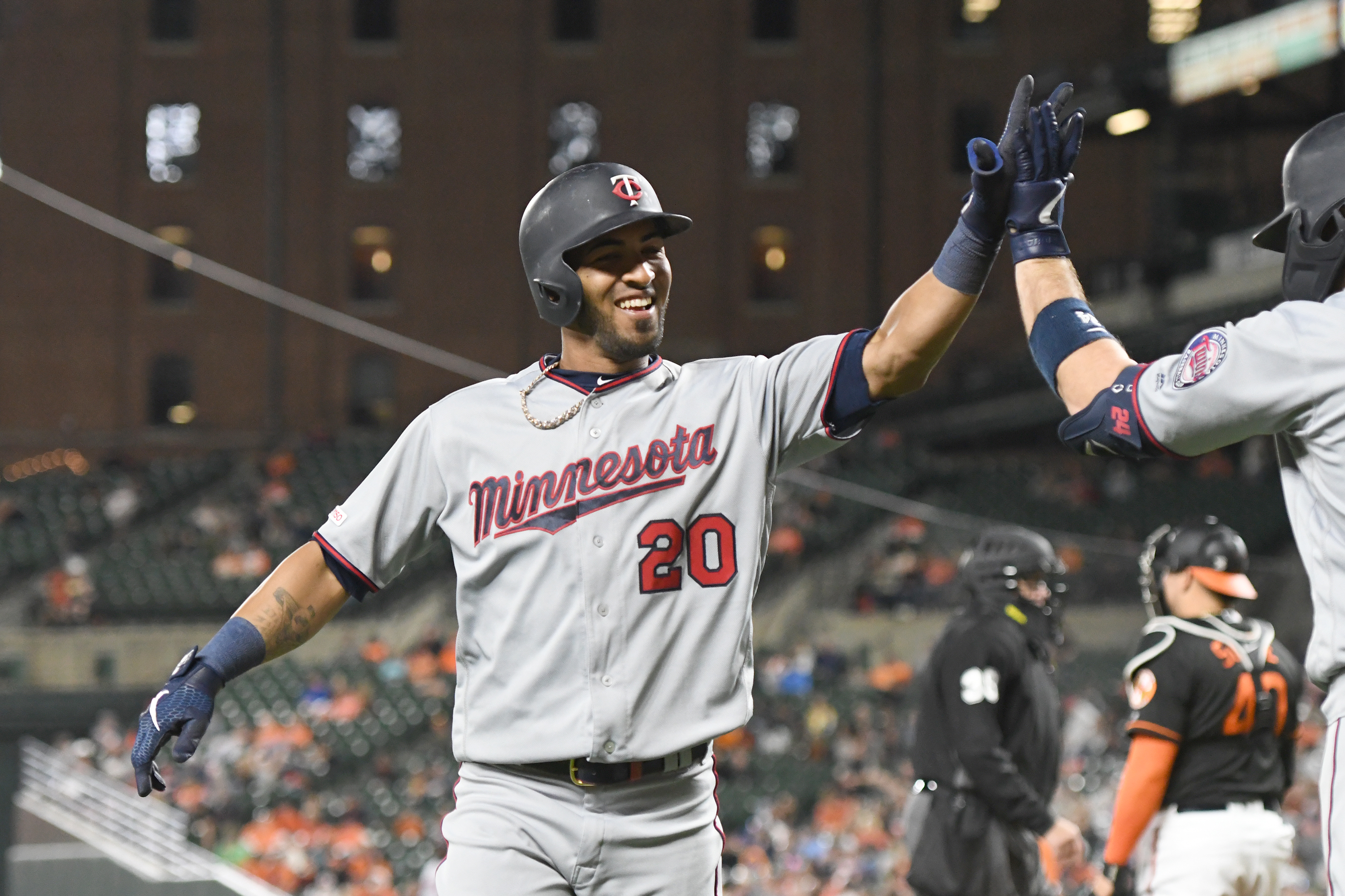 Eddie Rosario terrified by Easter Bunny hits many home runs 3000x2000