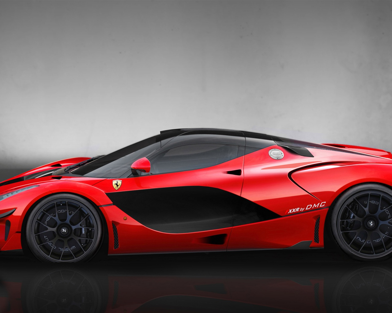 Red supercar DMC LaFerrari FXXR side view Wallpaper 1280x1024 1280x1024