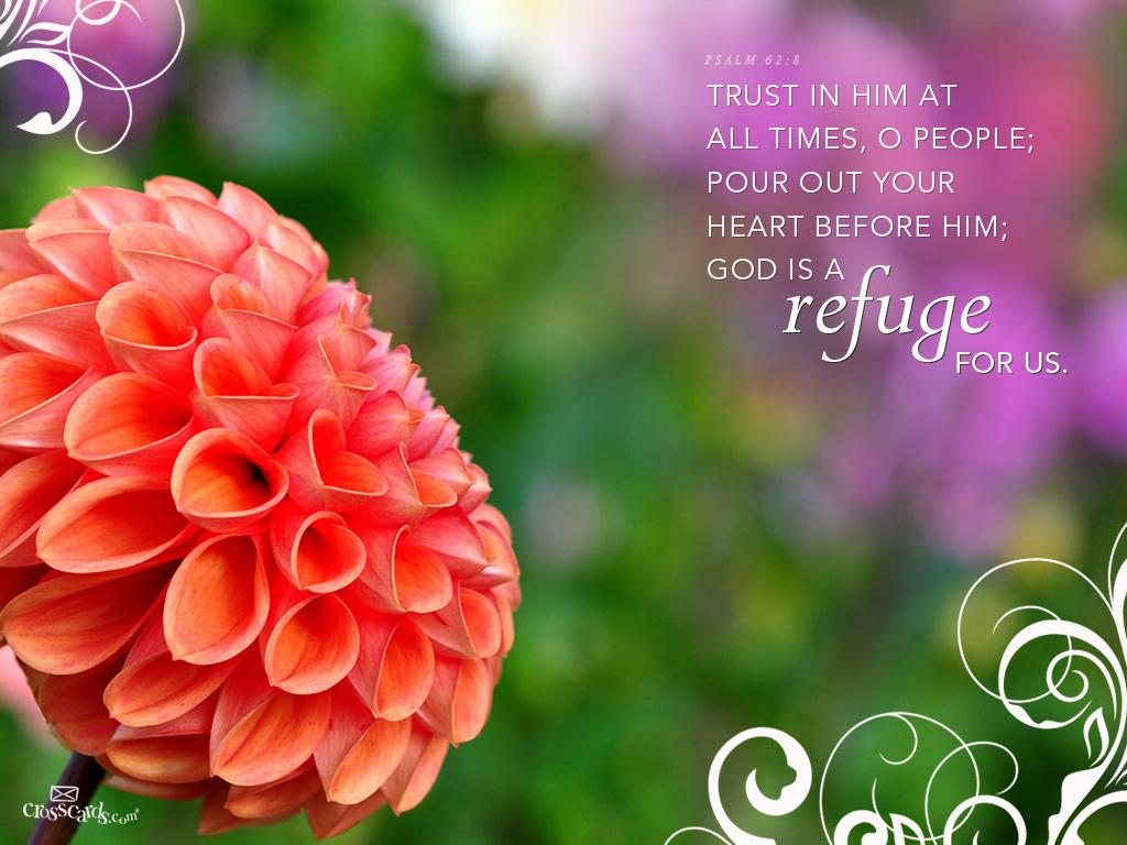 Refuge Desktop Wallpaper   Scripture Verses Backgrounds 1024x768