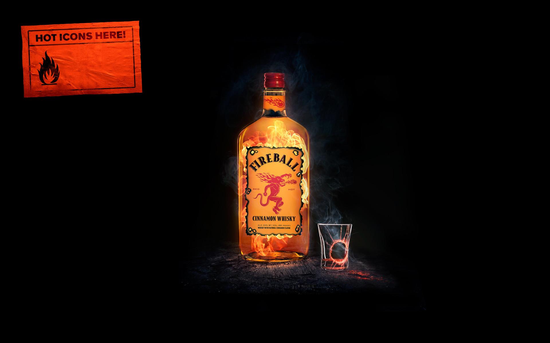 Fireball Whisky Alcohol Wallpaper 66392 1920x1200px 1920x1200