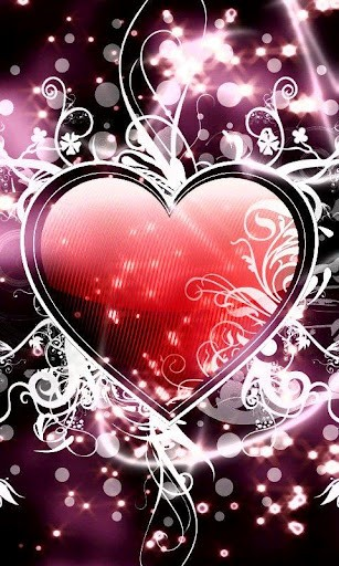 View bigger   Sparkle Heart Live Wallpaper for Android screenshot 307x512