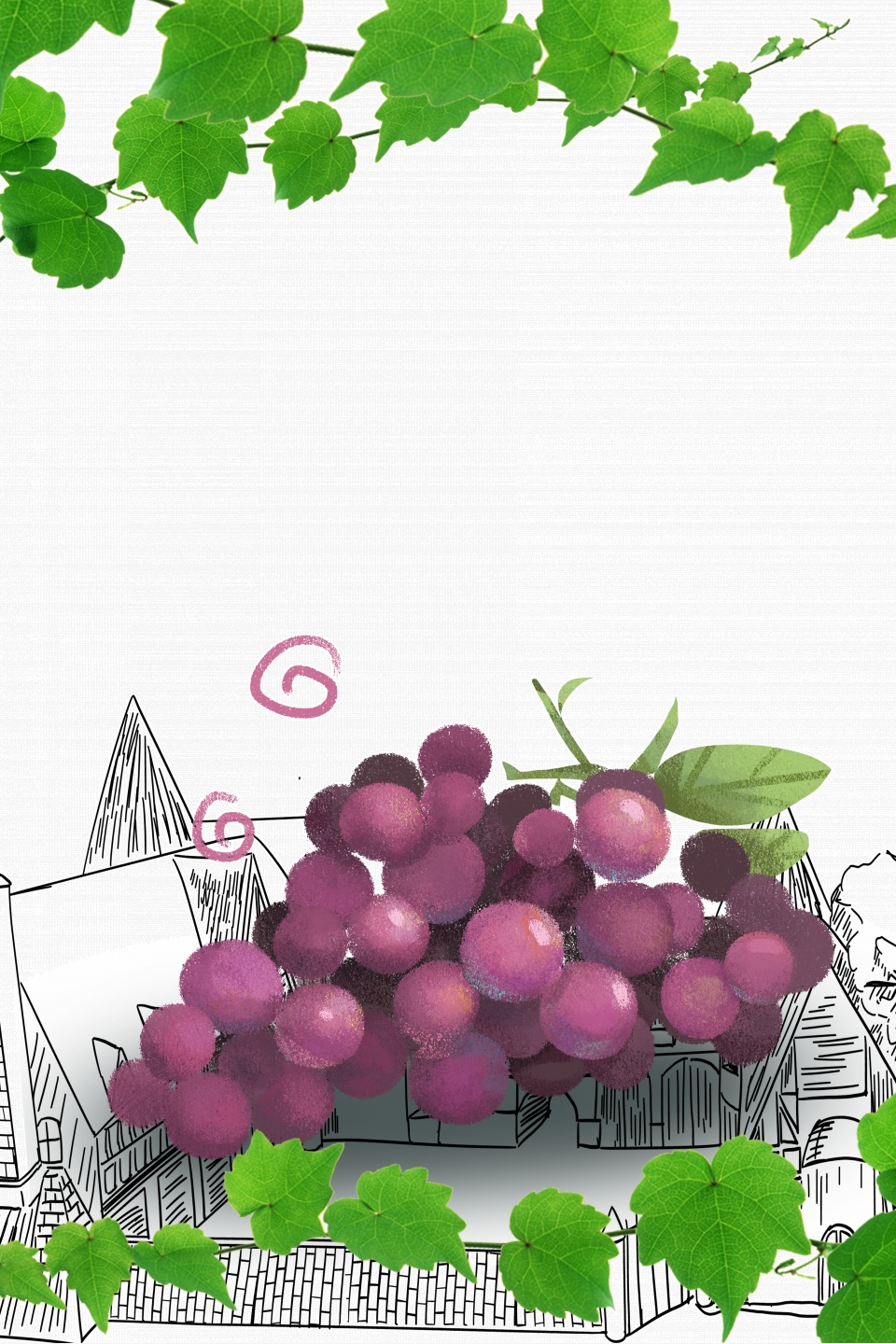 Fresh Fruit Grapes Promotion Poster Background Fresh Grape Good 960x1440