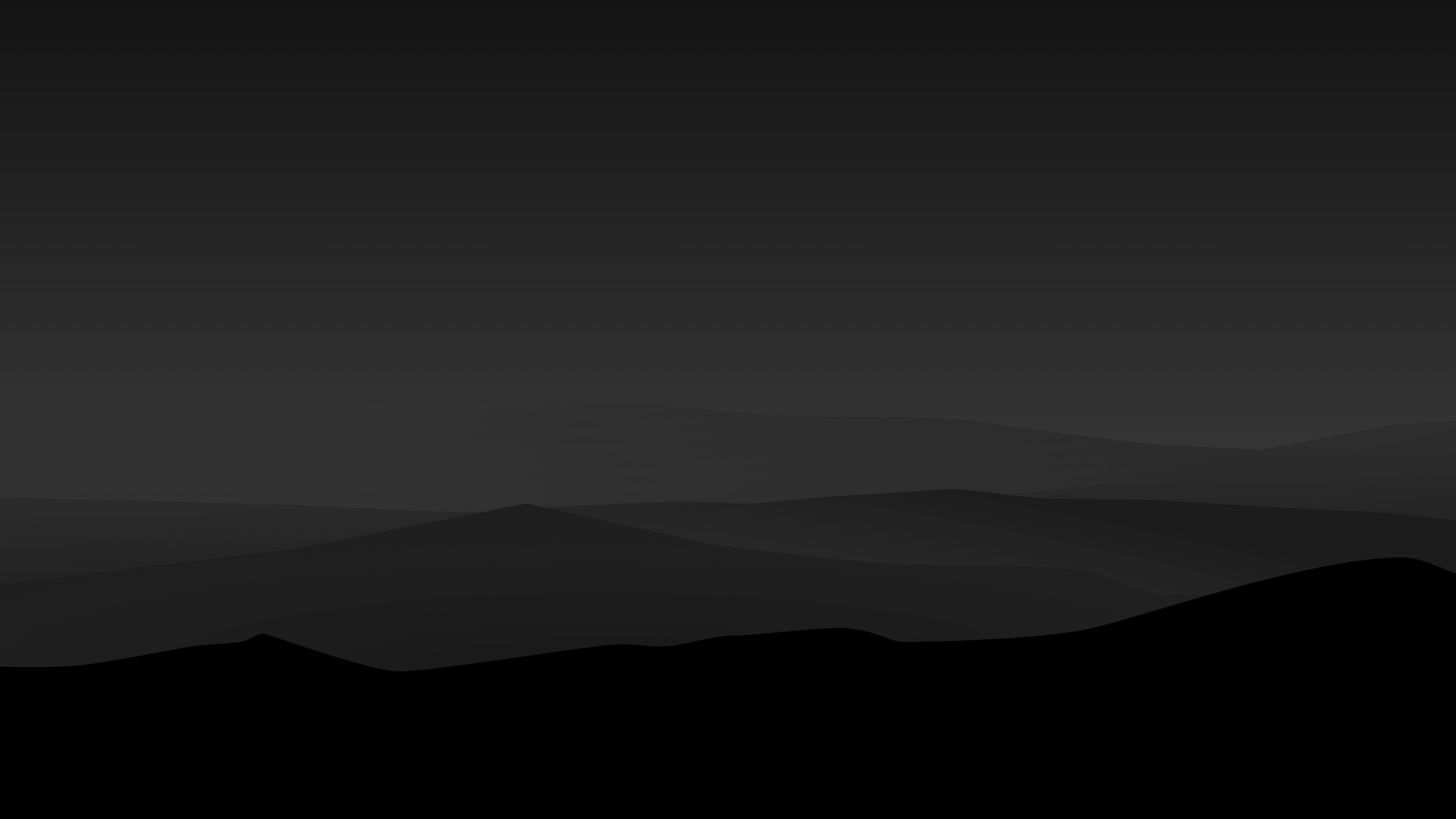 Dark Night Mountains Minimalist 4k simple background wallpapers 3840x2160
