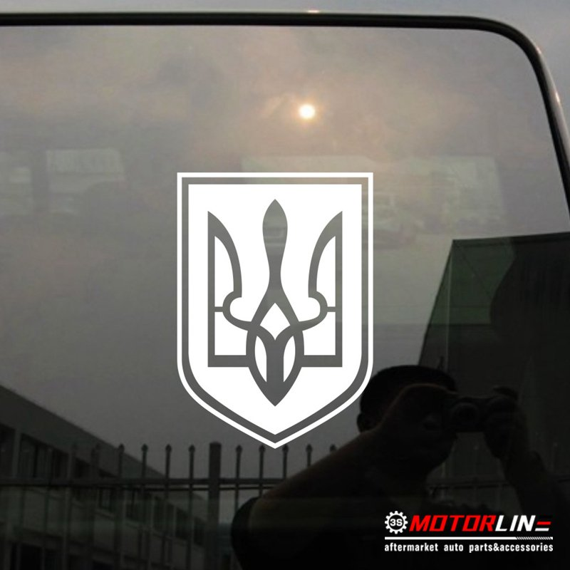 Coat of Arms of Ukraine Decal Sticker Tryzub Car Vinyl pick size 800x800