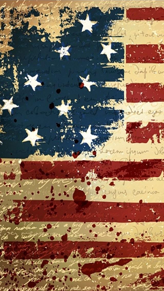 USA Flag iPhone 5 USA Flag iPhone 5   iPhone Wood Wallpapers 640x1136